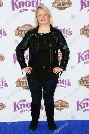Lauren Potter arrives at Knott's Berry Farm Launches Voyage To The Iron Reef, in Buena Park, Calif