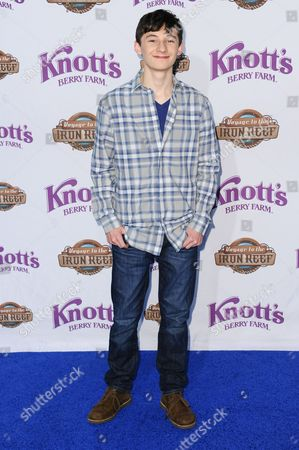 Jared Gilmore arrives at Knott's Berry Farm Launches Voyage To The Iron Reef, in Buena Park, Calif