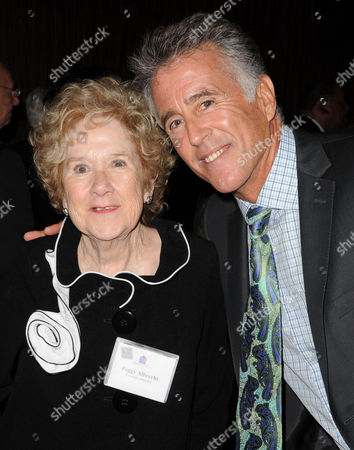 Peggy Albrecht, at left, and Christopher Kennedy Lawford are seen at the LA Friendly House Luncheon on in Beverly Hills, Calif
