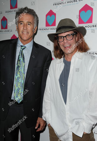 Christopher Kennedy Lawford at left, and Bob Forrest are seen at the LA Friendly House Luncheon on in Beverly Hills, Calif