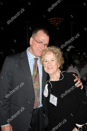 Ross Phillips, at left, and Peggy Albrecht seen at the LA Friendly House Luncheon on in Beverly Hills, Calif