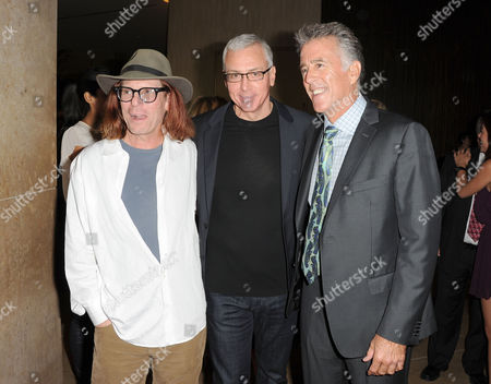 Bob Forrest, from left, Dr. Drew Pinsky,and Christopher Kennedy Lawford are seen at the LA Friendly House Luncheon on in Beverly Hills, Calif