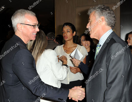 Dr. Drew Pinsky, at left, and Christopher Kennedy Lawford are seen at the LA Friendly House Luncheon on in Beverly Hills, Calif