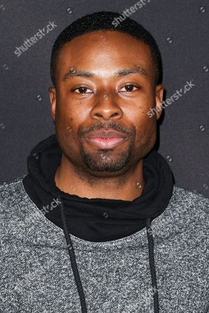 """Justin Hires attends the LA Premiere of """"50 Shades of Black"""" held at Regal L.A. Live, in Los Angeles"""