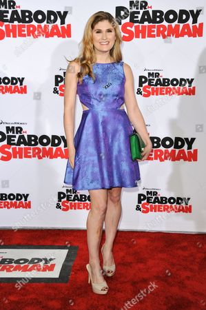 """Stock Picture of Natalia Reagan arrives at the LA Premiere of """"Mr. Peabody & Sherman"""" on in Los Angeles"""