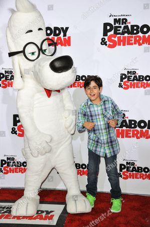 "Blake Garrett Rosenthal arrives at the LA Premiere of ""Mr. Peabody & Sherman"" on in Los Angeles"