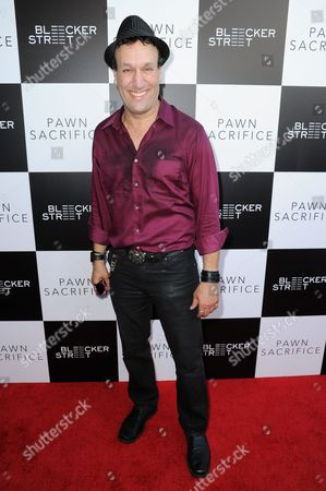 """Stock Image of Gabriel Jarret arrives at the LA premiere of """"Pawn Sacrifice"""" held at Harmony Gold, in Los Angeles"""