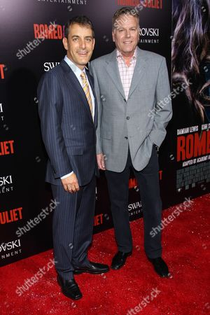 """Stock Image of From left, producers Andy Spaulding and Doug Mankoff arrive at the premiere of """"Romeo and Juliet"""" at the ArcLight on in Los Angeles"""