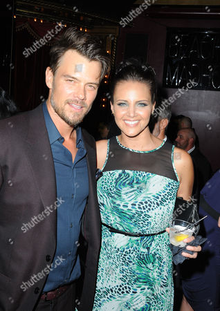"""Josh Duhamel, at left, and and Miracle Laurie attend the afterparty for the premiere of """"Scenic Route"""" at Beacher's Madhouse on in Los Angeles"""
