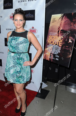 """Miracle Laurie arrives on the red carpet for the premiere of """"Scenic Route"""" at the Chinese 6 Theater on in Los Angeles"""