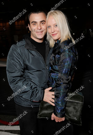 Stock Image of Nicholas Jarecki and Anette Nyseth attend the Los Angeles Premiere of 'That Awkward Moment' Premiere, on Monday, January, 27, 2014 in Los Angeles