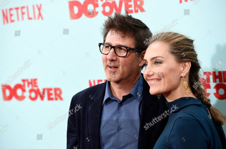 """Stock Picture of Steven Brill, director of """"The Do-Over,"""" poses with his wife Ruthanna Hopper at the premiere of the film """"The Do-Over"""" at the Regal LA Live theaters, in Los Angeles"""