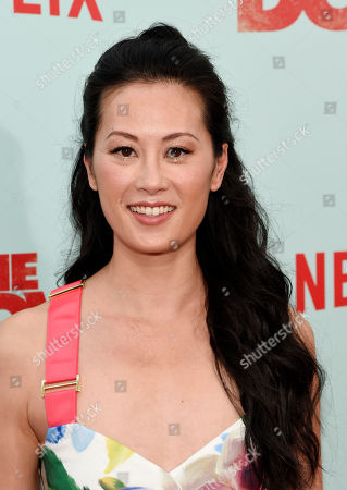 """Actress Olivia Cheng poses at the premiere of the film """"The Do-Over"""" at the Regal LA Live theaters, in Los Angeles"""