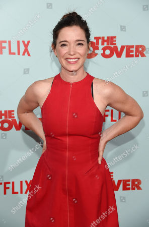 """Actress Marguerite Moreau poses at the premiere of the film """"The Do-Over"""" at the Regal LA Live theaters, in Los Angeles"""