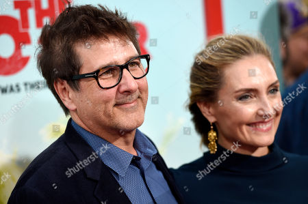 """Steven Brill, director of """"The Do-Over,"""" poses with his wife Ruthanna Hopper at the premiere of the film """"The Do-Over"""" at the Regal LA Live theaters, in Los Angeles"""