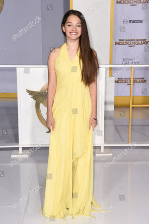"""Erika Bierman arrives at the Los Angeles premiere of """"The Hunger Games: Mockingjay - Part 1"""" at the Nokia Theatre L.A. Live on"""
