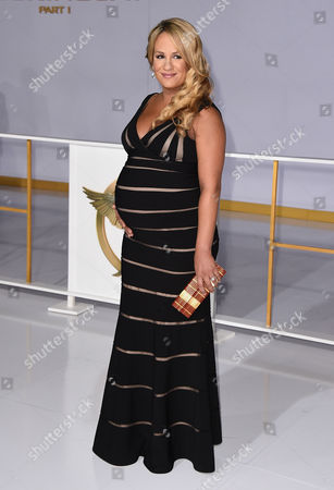 """Jenn Brown arrives at the Los Angeles premiere of """"The Hunger Games: Mockingjay - Part 1"""" at the Nokia Theatre L.A. Live on"""
