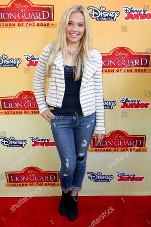"Lauren Taylor arrives at the LA Premiere of ""The Lion Guard: Return of the Roar"" at Walt Disney Studios, in Burbank, Calif"