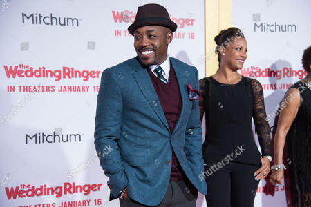 Stock Photo of William Packer, left and Heather Hayslett arrive at the LA Premiere Of The Wedding Ringer at the TLC Chinese Theatre, in Los Angeles, CA