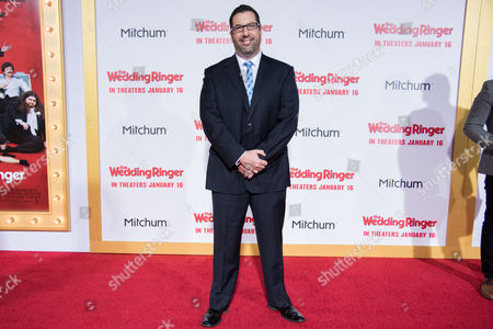 Christopher Lennertz arrives at the LA Premiere Of The Wedding Ringer at the TLC Chinese Theatre, in Los Angeles, CA