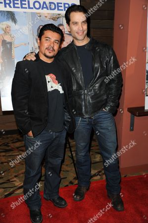 "Stock Image of Jonathan Schaech, left, and Jacob Vargas attend the LA premiere of ""Freeloaders"" at the Sundance Sunset Cinema on in Los Angeles"