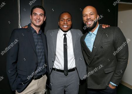 """Producer Jason Michael Berman, Director Sheldon Candis and Common attend the LA premiere of """"Luv"""" at the Pacific Design Center, in West Hollywood, California"""