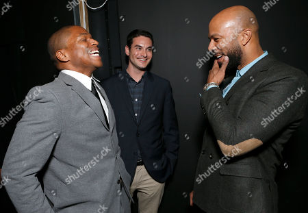 """Director Sheldon Candis, Producer Jason Michael Berman and Common attend the LA premiere of """"Luv"""" at the Pacific Design Center, in West Hollywood, California"""