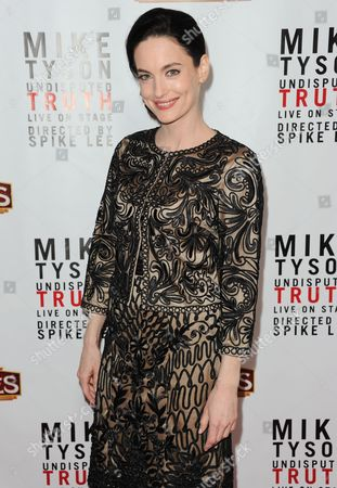 "Alex Lombard arrives at the LA premiere of ""Mike Tyson: Undisputed Truth"" at the Pantages Theatre on Friday, March8, 2013 in Los Angeles"