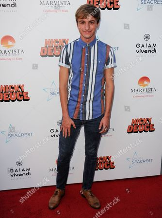 "Lucas Cruikshank arrives at the LA premiere of ""Nicky Deuce"" at the ArcLight Hollywood on in Los Angeles"