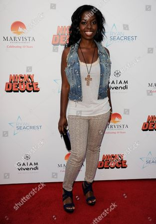 "Camille Winbush arrives at the LA premiere of ""Nicky Deuce"" at the ArcLight Hollywood on in Los Angeles"