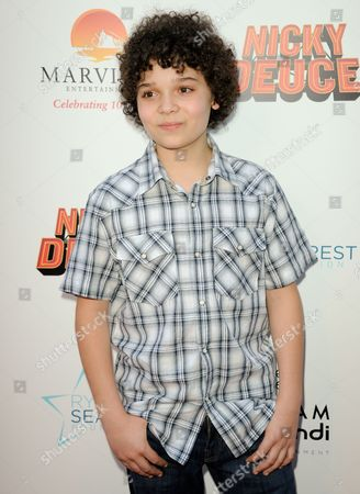 "Cameron Ocasio arrives at the LA premiere of ""Nicky Deuce"" at the ArcLight Hollywood on in Los Angeles"