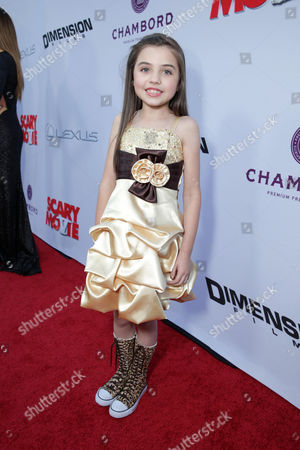 Stock Photo of Gracie Whitton at the LA Premiere of Scary Movie V at the Cinerama Dome on in Los Angeles