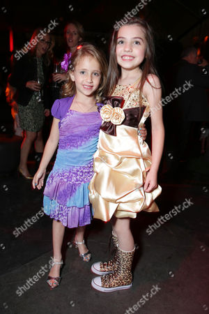 Stock Image of Ava Kolker and Gracie Whitton at the LA Premiere of Scary Movie V at the Cinerama Dome on in Los Angeles