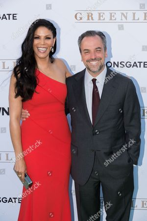 "Merle Dandridge, left, and Craig Wright arrive at the season one premiere of ""Greenleaf"" at The Lot, in West Hollywood, Calif"