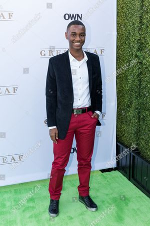"""Stock Picture of Zachary S. Williams arrives at the season one premiere of """"Greenleaf"""" at The Lot, in West Hollywood, Calif"""