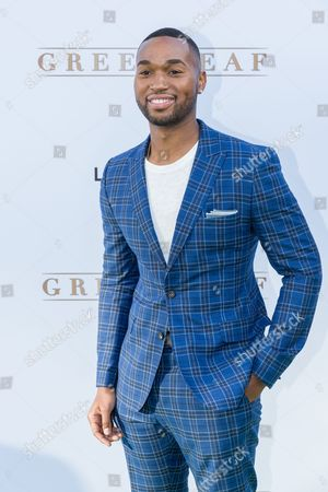 """Stock Image of Tye White arrives at the season one premiere of """"Greenleaf"""" at The Lot, in West Hollywood, Calif"""