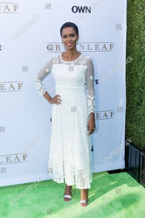 """Stock Picture of Kim Hawthorne arrives at the season one premiere of """"Greenleaf"""" at The Lot, in West Hollywood, Calif"""