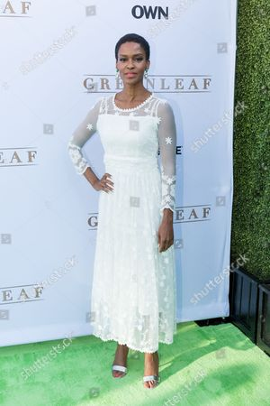 """Stock Photo of Kim Hawthorne arrives at the season one premiere of """"Greenleaf"""" at The Lot, in West Hollywood, Calif"""