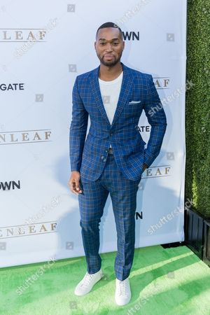 """Tye White arrives at the season one premiere of """"Greenleaf"""" at The Lot, in West Hollywood, Calif"""