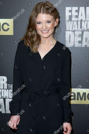 "Stock Photo of Meegan Warner arrives at the LA Premiere of ""Fear the Walking Dead"" Season Two at Cinemark Playa Vista, in Los Angeles"