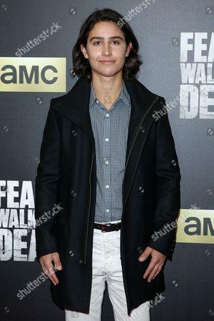 "Lorenzo James Henrie arrives at the LA Premiere of ""Fear the Walking Dead"" Season Two at Cinemark Playa Vista, in Los Angeles"