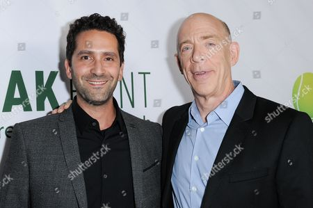 "Director Jay Karas, left, and actor J. K. Simmons arrive at the LA Special Screening of ""Break Point"" held at the TCL Chinese 6 Theatres, in Los Angeles"