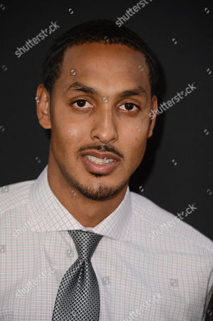 """Ryan Hollins arrives at the special screening of """"Jobs"""" at the Regal Cinemas L.A. Live, in Los Angeles"""