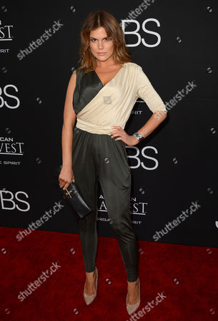 """Rosalind Lipsett arrives at the special screening of """"Jobs"""" at the Regal Cinemas L.A. Live, in Los Angeles"""