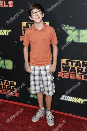 """Stock Image of Augie Isaac arrives at the LA Special Screening of """"Star Wars Rebels"""", in Los Angeles"""