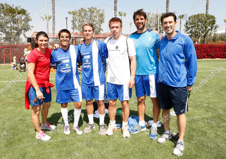 Mia Hamm, Team Wasserman and Nomar Garciaparra attend the LAFEST LA Film and Entertainment Soccer Tournament, on in Carson, California
