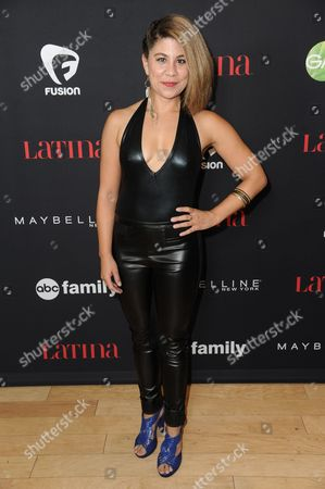 """Santana Dempsey arrives at LATINA Magazine's """"30 Under 30"""" Party, in West Hollywood, Calif"""