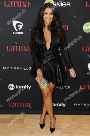 "Somaya Reece arrives at LATINA Magazine's ""30 Under 30"" Party, in West Hollywood, Calif"