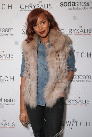 LaToya London attends Lea Michele's night of shopping and cocktails at Switch Boutique presented by SodaStream with proceeds going to Chrysalis at Switch Boutique on in Los Angeles