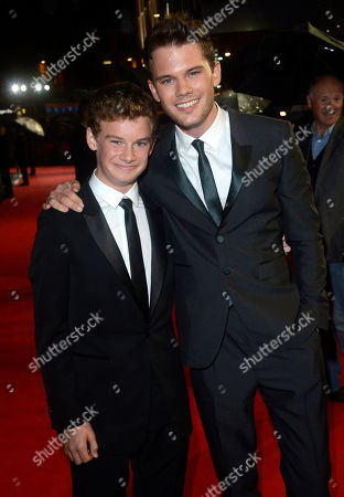 Toby Irvine, Jeremy Irvine pose at London Film Festival Awards 2012 Closing Night Gala - Great Expectations at Odeon Leicester Square on in London